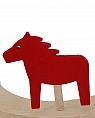 Sebastian design big wooden horse, red, h 6 cm