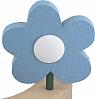Sebastian design wooden flower without leaves light blue, h 8 cm