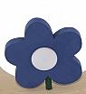 Sebastian design wooden flower without leaves blue, h 8 cm