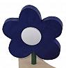 Sebastian design wooden flower without leaves cobalt blue, h 8 cm