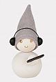 Aarikka MUSA Pakkanen Musiker mit Kopfhörern, weiß, Höhe 9 cm