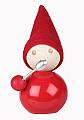Aarikka PUUROKAUHA Tonttu red with silver spoon, h 11 cm
