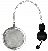 Aarikka Kisu tea strainer, cat black. l 21 cm