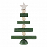 Aarikka Joulupuu small Christmas tree green/white, table decoration, h 18 cm