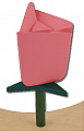 Sebastian design rose pink, h 6 m, for candlerings