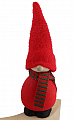 gnome Victor red with striped scarf,  h 13 cm