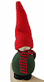 gnome Victor green with striped scarf,  h 13 cm