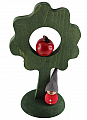 Sebastian design big wood tree dark green with apple/gnome, h 25 cm