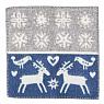 Swedish seat pad Lappland, wooven lamb wool, blue, 43x43 cm