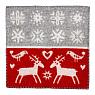 Swedish seat pad Lappland, wooven lamb wool, red, 43x43 cm