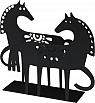 Bengt & Lotta HAPPY HORSE napkin holder, black, h 13 cm