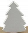 Sebastian fir tree white for candlerings, h 9 cm