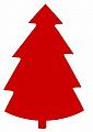 Sebastian fir tree red for candlerings, h 9 cm (copy)
