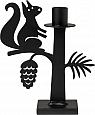 Bengt & Lotta SQUIRREL candle holder, black, h 18 cm