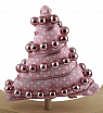 cotton fabric tree pink decorated, h 11 cm