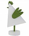 Sebastian modern cock, white/light green, H 15 cm