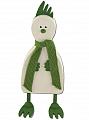 Sebastian large cock Palle, white/light green, H 21 cm