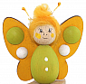 Wooden butterfly yellow, H 7 cm, for candlerings