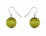 Aarikka KARPALO earrings lime green, Length 2,5 cm