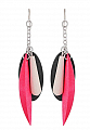 Aarikka Elisabeth earrings black/pink, Length 10 cm