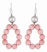 Aarikka Merida earrings pink, Length 6,5 cm