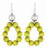 Aarikka Merida earrings lime green, Length 6,5 cm