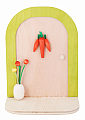 Aarikka Easter door light green, decorated, h 16 cm