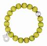 Aarikka MERIDA bracelet lime green, diameter 5 cm
