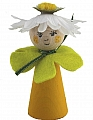 flower child yellow with a blossom hat, H 8 cm, candlering figure