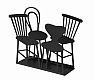 Bengt & Lotta CHAIRS napkin holder, black, h 11 cm