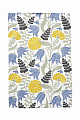 Bengt & Lotta towel LILY, woven cotton, white/blue/yellow, 46 x70 cm