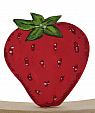 Strawberry for candlerings, H 6 cm