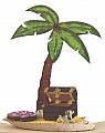 Treasure Island with palm, h 9 cm