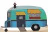 house trailer blue lasercut, h 5,5 cm