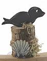 Seal on a big bollard, hight 6 cm