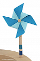 Wind wheel blue, hight 11 cm, for candlerings