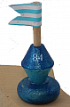 buoy blue for candlerings, H 5 cm