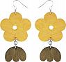 Aarikka Lempi earrings yellow/green, Length 6,5 cm