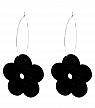 Aarikka Lemikki boucles doreille noirs, l 4,5 cm