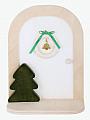 Aarikka elf door Winter Door white, decorated, 12x16x7 cm