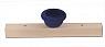 Sebastian design wooden slate with big  tealight holder blue