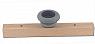 Sebastian design wooden slate with big  tealight holder light grey