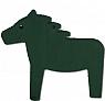 Sebastian design horse dark green, h 9 m, for candlerings (copy)