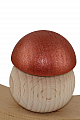 wooden Mushroom, copper metallic, h 4,4 cm