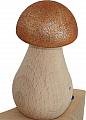 big wooden Mushroom, copper glitter, h 6,8 cm