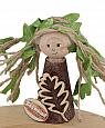 tree child dark brown glitter, h 10 cm