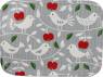Bengt & Lotta Apple & BIRD small Swedish tray 20x27 cm grey