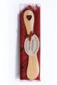 Present set butterknife Heart laser-cut, small cloth
