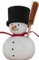 Sebastian design Snowman with broom, h 7 cm