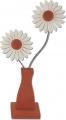 Nedholm Gerberas in vase orange/white